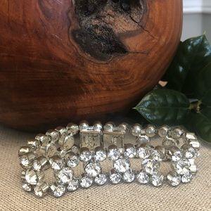Vintage Czechoslovakia Glass Rhinestone Bracelet